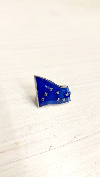 Blue Starry Plough Badge