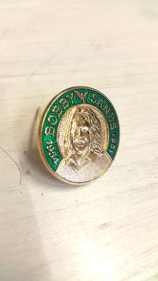 Bobby Sands 3D Badge