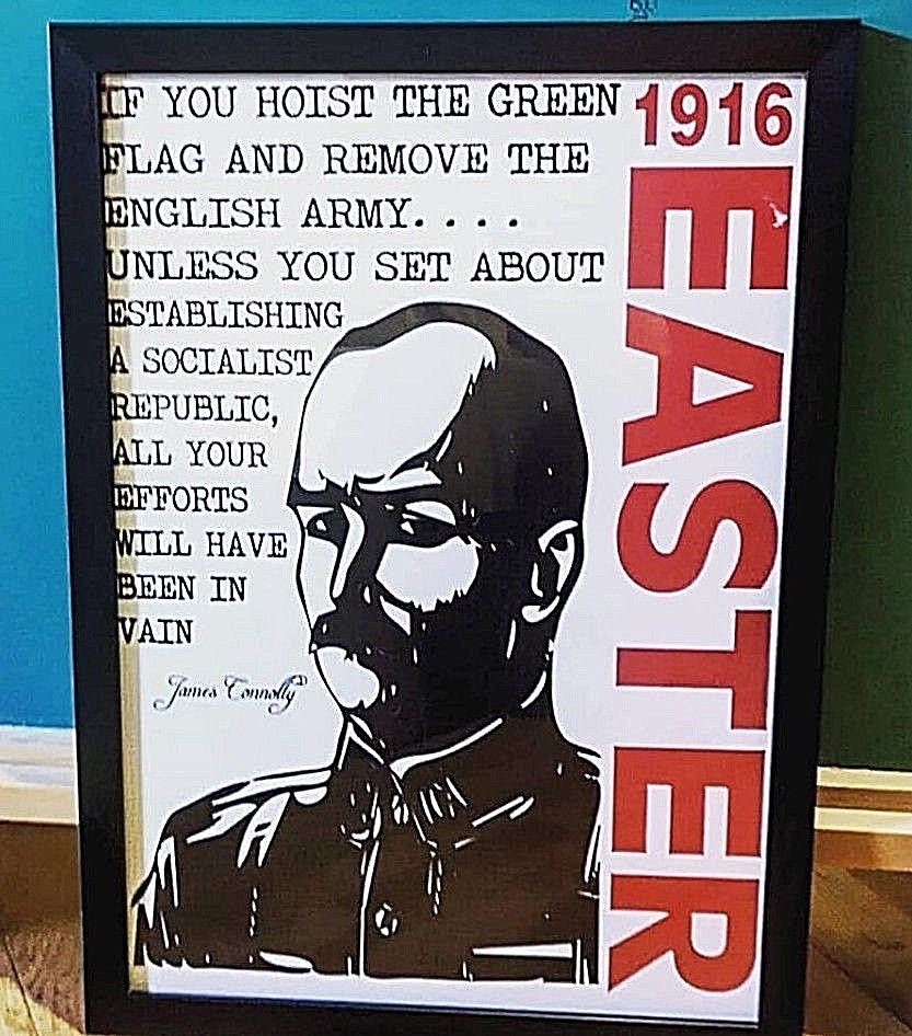 Connolly Quote Framed Poster