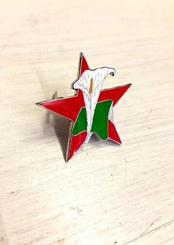 Easter Lily Red Star Badge