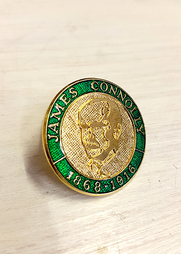 James Connolly 3D Badge