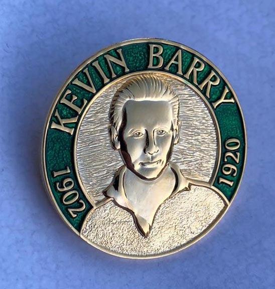Kevin Barry 3D Badge