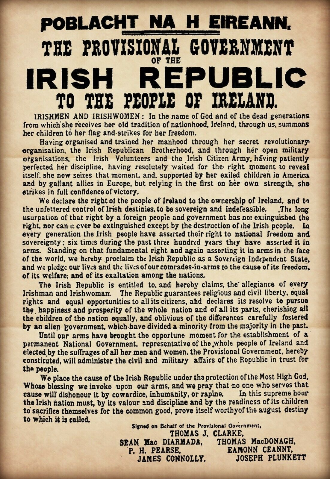 1916 Proclamation Poster