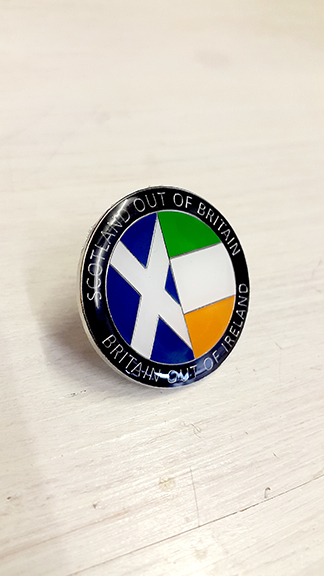 Scotland out of Britain out of Ireland Badge